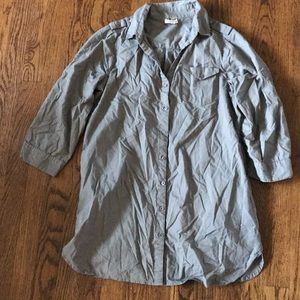 Gray button up flannel